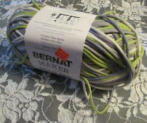 BERNAT-MAKER-HOME-DEC-Lilac-Fence-Purple-Green-Yarn-250g-Cotton-Nylon-Bulky