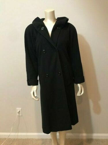 VTG SEARLE 100% Cashmere Trench Coat, Size 4, Doub