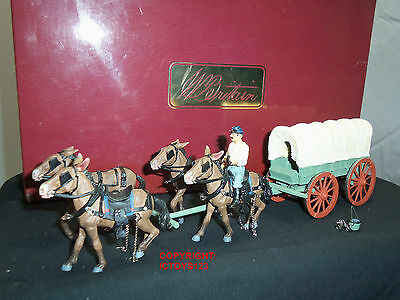 BRITAINS 17571 FEDERAL ORDNANCE HORSE DRAWN WAGON + DRIVER METAL TOY SOLDIER SET