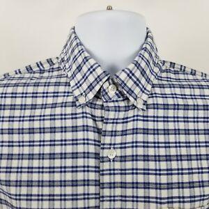 J-Crew-Oxford-Slim-Fit-Mens-Blue-Check-L-S-Casual-Button-Shirt-Sz-Medium-M