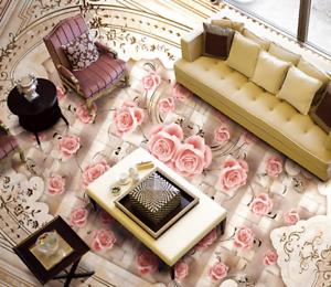 3D Exquisite pinks 56 Floor WallPaper Murals Wall Print 5D AJ WALLPAPER UK Lemon