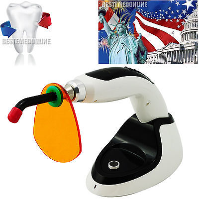 10W Wireless Cordless LED Dental Curing Light Lamp 2000MW + Whitening USA+TEST A