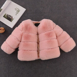 1640a43c9429c Winter Baby Girls Fur Coat Kids Faux Fur Jacket Coats Thick Warm ...
