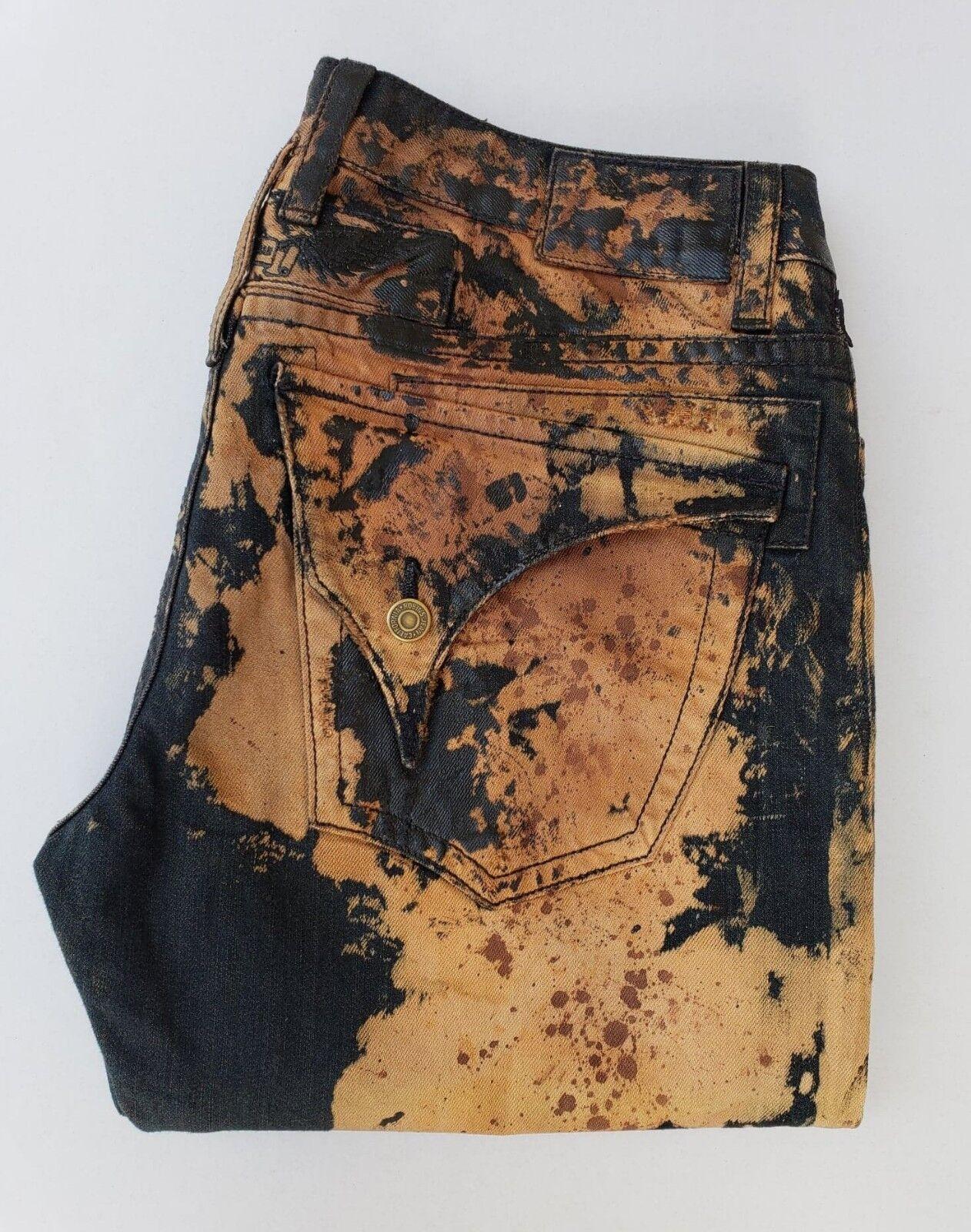 Nuovo da Uomo di ROBIN Jeans Jeans Jeans TG 42 Dritto Rivestiti Cerato Jeans -mech Lavaggio 092a61