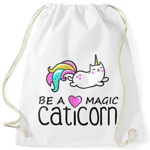 Turnbeutel Be a magic caticorn Einhorn Unicorn Gymbag Moonworks®