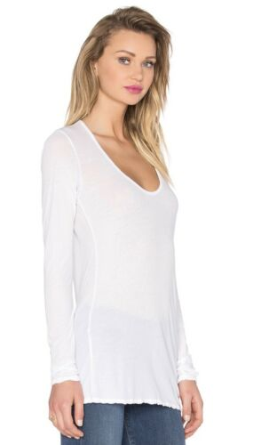 LONG SLEEVE JERSEY TEE IN WHITE $115. S//M NWT JAMES PERSE WOMEN Sz2