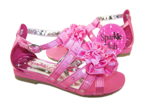 Girls Child Pink Sandals Small Wedge Party Shoes Summer Sandals Bridesmaid