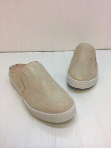 Vionic-Splendid-Dakota-Gold-Mule-Leather-Women-039-s-Comfort-Shoes-Size-10-NIB
