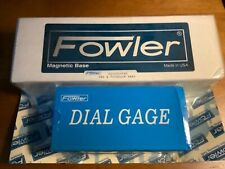Fowler 52 520 185 0 Tin Coated Fine Adjust Magnetic Base Withdial Indicator 0 1