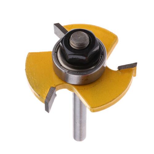2 x verstellbarer Zungenrillenfräser Bit 1//4 Zoll Schaft