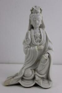 Antique 18th Century Chinese Blanc de Chine  Figure of Guanyin 19cm High RARE