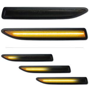 SCHWARZE-dynamische-LED-Seitenblinker-Ford-Mondeo-IV-4-BA7