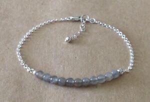 LABRADORITE-Beaded-Bar-925-Sterling-Silver-Chain-Friendship-Bracelet