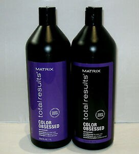 Matrix-Color-Obsessed-Shampoo-amp-Conditioner-33-8-oz-Liter-Duo-Set-SEALED