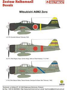 Techmod-Decals-1-24-Mitsubishi-A6M2-Zero-24019