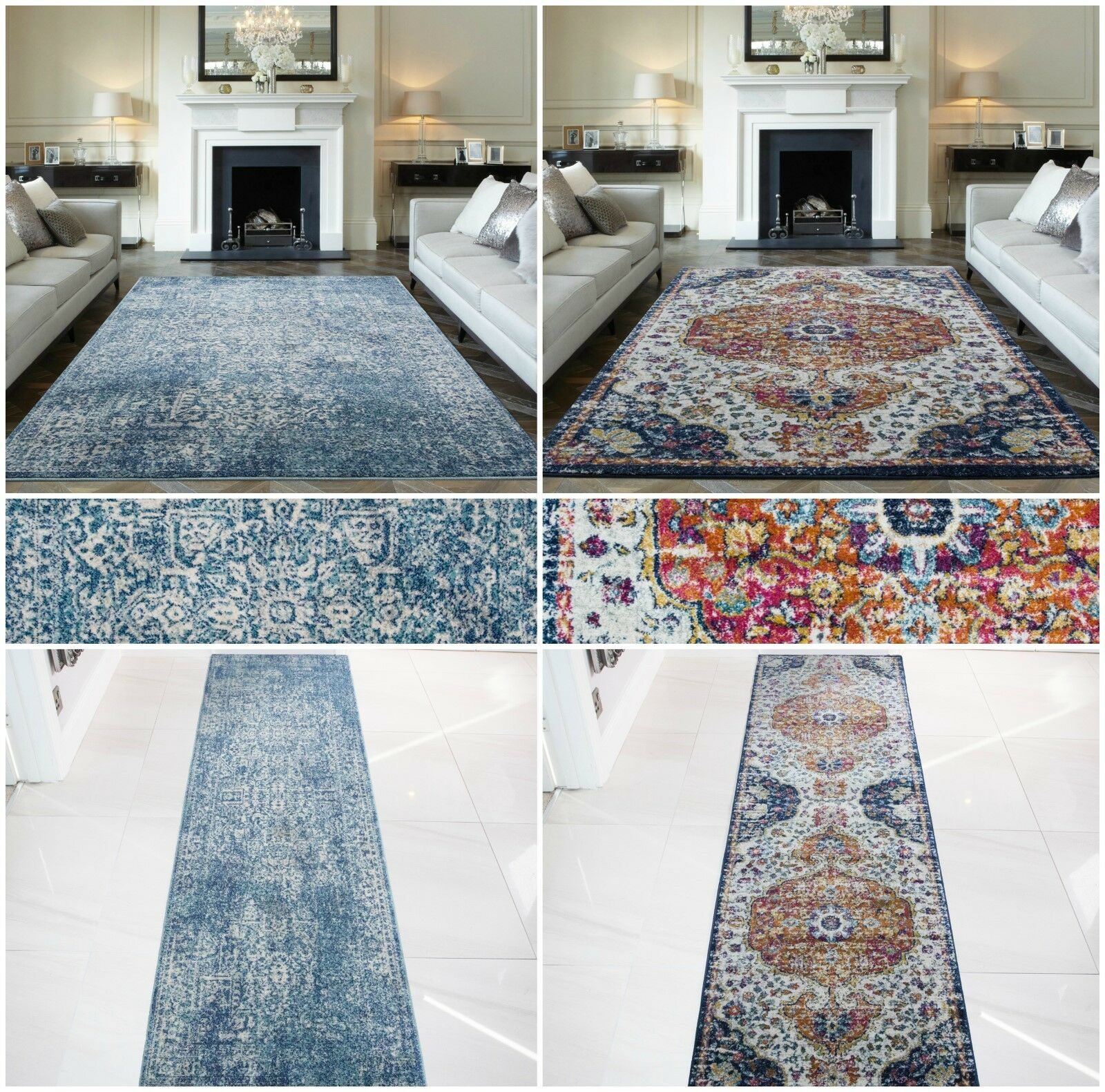 Modern Distressed Traditional Traditional Traditional Rugs Small Large Faded Vintage Living Room Rugs UK dbeef6