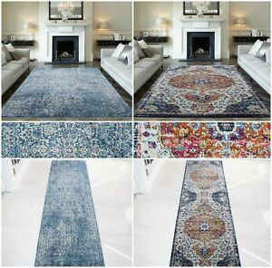 Image Is Loading Modern Distressed Traditional Rugs Small Large Faded Vintage