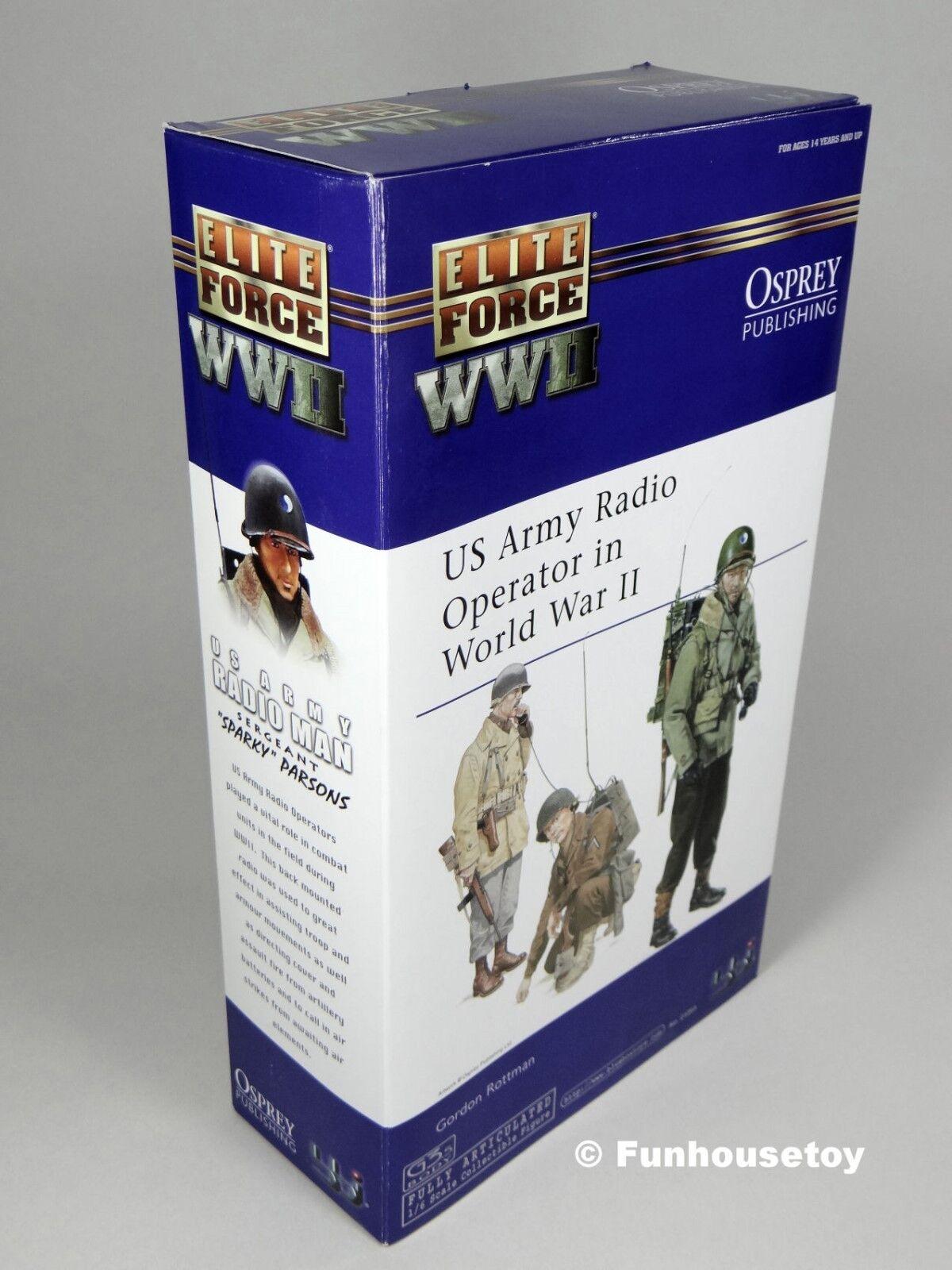 BBi Elite Force WWII 12  US Army RADIO Man  SPARKY   6  MIB, NEW , NOS