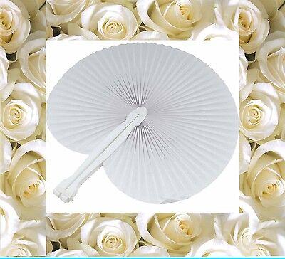 150 ( Centocinquanta ) Pezzi Ventaglio Matrimonio Bianco Wedding Matrimoni