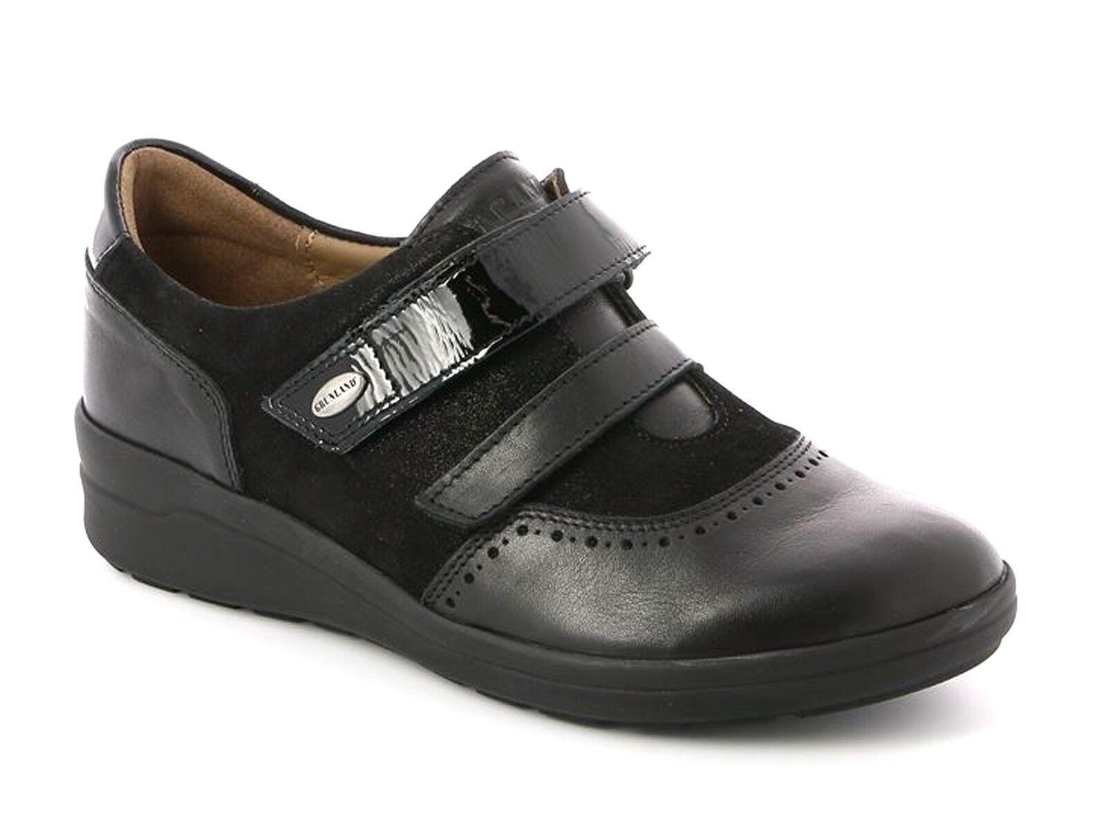 zapatos IN IN IN PELLE A DOPPIO STRAPPO mujer GRUNLAND INVERNO SC3474  FINN negro  al precio mas bajo