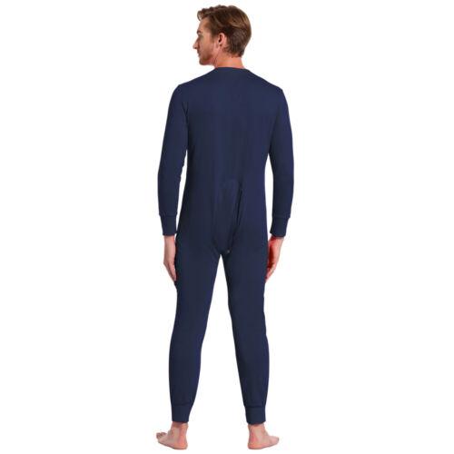 Zexxxy Herren All In One Thermo Baumwolle Jumpsuit Playsuit Unterwäsche Bodysuit