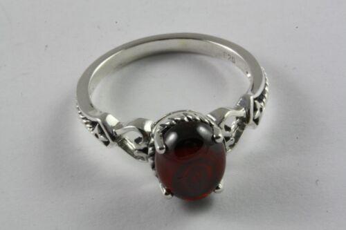 Design granate piedra anillo Anillo de mujer real 925 plata anillo de plata//643