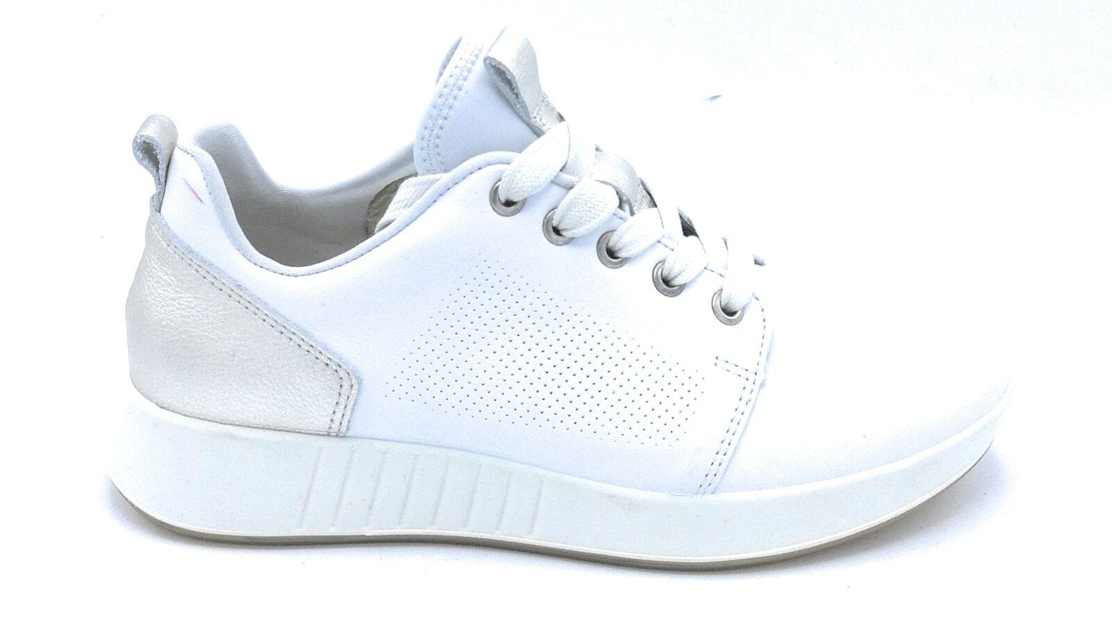 Legero 923-10 Sportschuhe Schnürsenkel Leder Weiß Mikroperforiert
