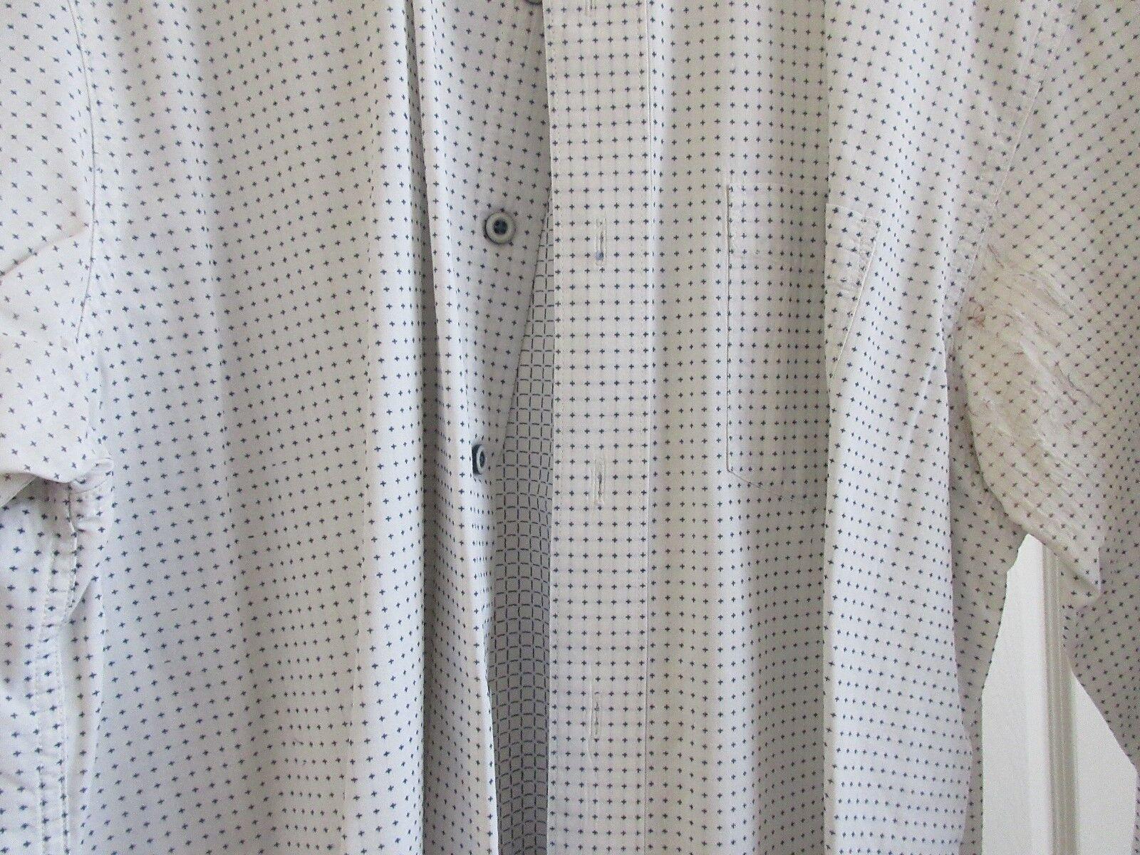 Indigo Palms , Size XL , Men's Long Sleeve Shirt , 100%