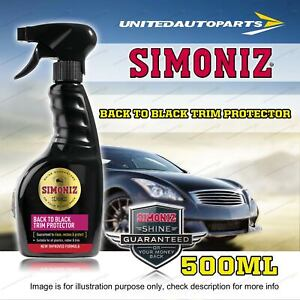 Simoniz Back to Black Trim Protector Restorer 500ML for plastics rubber trim