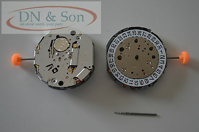 MIYOTA JS16 Genuine QUARTZ Watch Movement with stem NEW day at 3'
