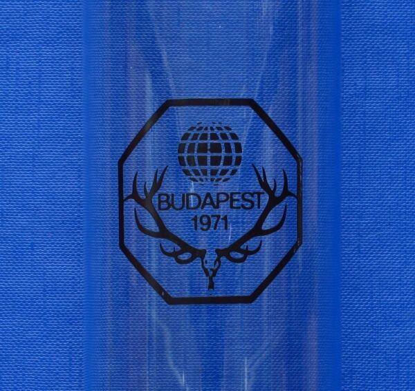 1971 Int´l Jagdausstellung Budapest Trinkglas Mit Logo U. Goldrand Auswahlmaterialien