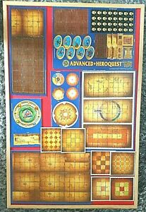 Advanced-Heroquest-Tiles-amp-Dungeon-Rooms-Some-On-Card-Unpunched-MB-Board-Game