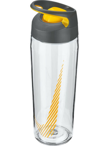 Nike 24oz Flip Top HyperCharge Plastic Water Bottle Clear//Orange New