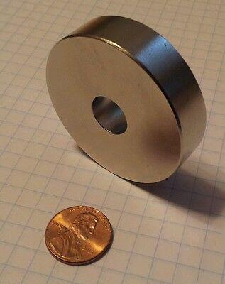 6 HUGE Neodymium ring magnest. Super strong N52 rare earth magnet.
