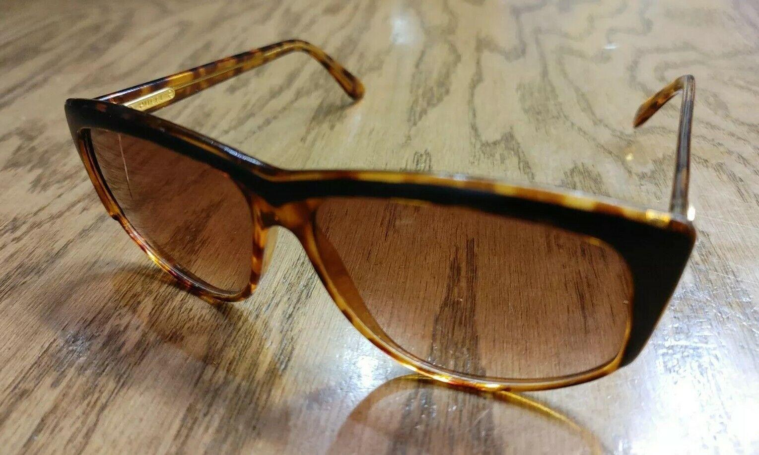Emilio Pucci 873-8 EP 03 Tortoise Flat Black Top Sunglasses Small Crack on Lens