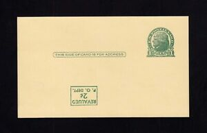Upss #s57f Mint Postal Card Inverted Surcharge Orderly Ux41a Upss Cat 90.00