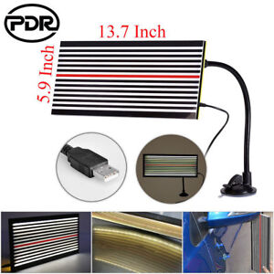 Paintless-Hail-Removal-LED-Light-PDR-Tool-Dent-Doctor-2Side-Line-Reflector-Board