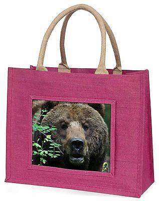 Schöner Brauner Bär Große Rosa Einkaufstasche Weihnachten Geschenkidee, ABE-2BLP