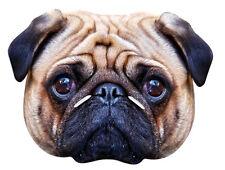 Mops Hund Einzeln 2D Tiere Karten Party Gesichtsmaske Süß Lustig Hunde