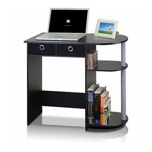 Small Student Desk Computer Table Children 39 S Laptop Work Space Pvc Furinno Black Ebay