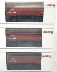 3x-MARKLIN-48450-HO-3-RAIL-DB-AG-BULK-MATERIAL-PNEUMATIC-SIDE-TIPPING-DUMP-CAR
