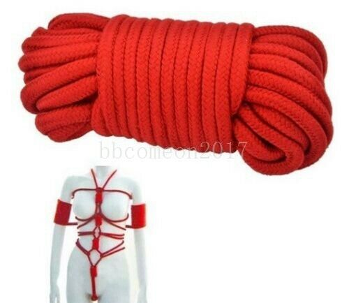 2-Pack, Red, Black 8mm Yitongxing Extra Long Pack of 64feet Soft Cotton Rope All-Purpose Collection Cotton Ropes