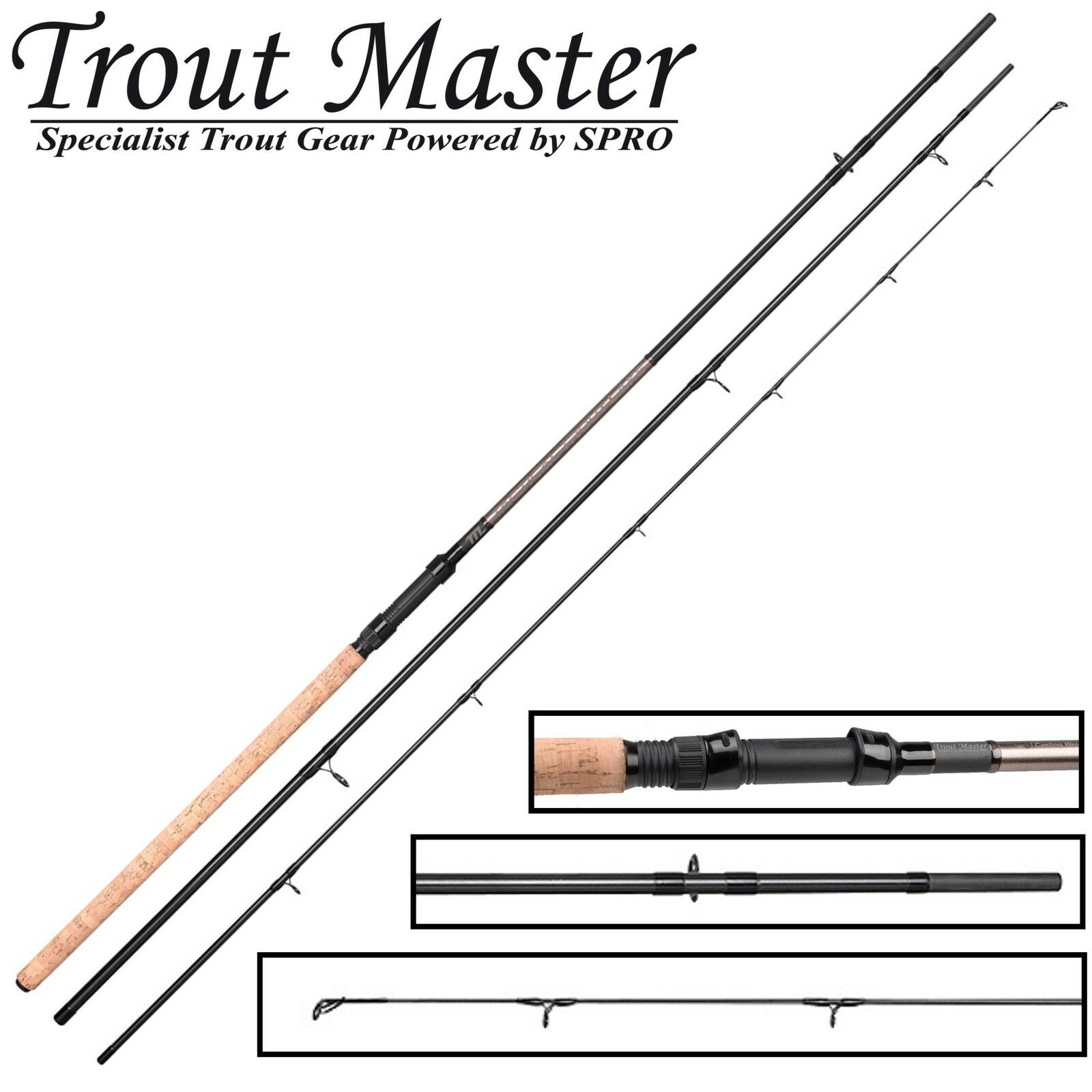 Trout Master Tactical Lake Trout Forellenrute 3,30m 5-40g, Angelrute für Forelle