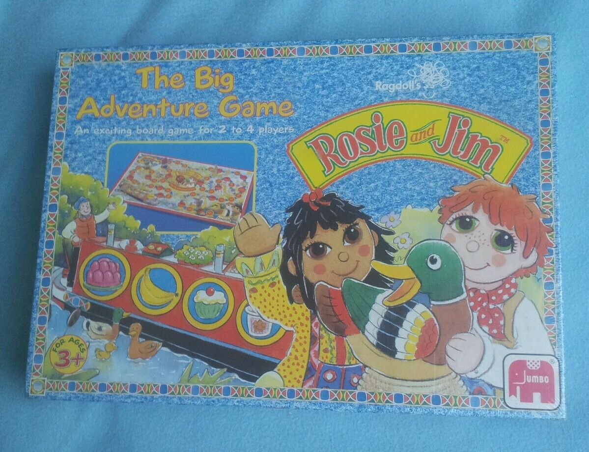 Rare Vintage Sealed Rosie & Jim The Big Adventure Board Game. 1991 Jumbo