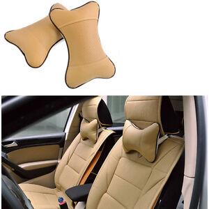 Travel-Car-Auto-Seat-Head-Neck-Rest-Leather-Cushion-Pad-HeadRest-Bone-Pillow
