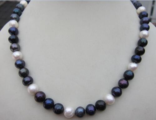 "18/"" 9-10 mm South Sea naturel multicolore collier de perles 14K"