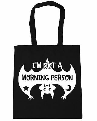 I'm Not A Morning Person Cute Bat Tote Shopping Gym Beach Bag 42cm x38cm, 10 lit