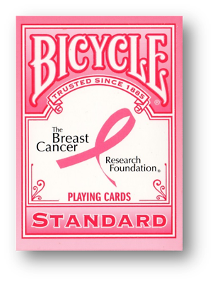 Breast Cancer Ribbon Bicycle Pink Ribbon Deck Partita A Poker Carte Cardistry-