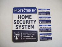 Home Security Alarm System Yard Sign & 4 Window Stickers - Stock 713
