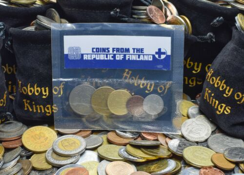 VALUABLE MONEY 5 FINNISH COINS DIFFERENT EUROPEAN COINS FOREIGN CURRENCY